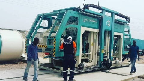 Globmac started an installation of KB25 Authomatic Block Machine in Ghana.