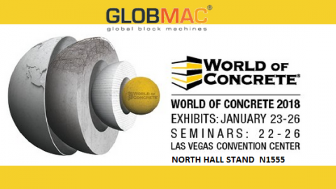 World of Concrete 2018-23/26 January, North Hall Stand No:1555